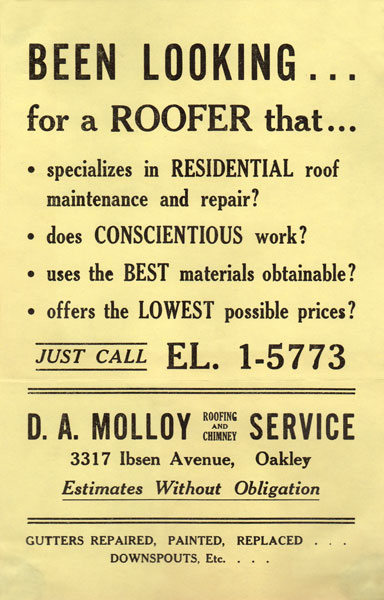 About Us Molloy Roofing Company